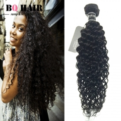 BQ HAIR Grade 8A Deep Curly 100% Unprocessed Peruvian Virgin Human Hair 100g/Bundle natural black 28 inch