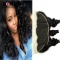BQ HAIR 8A Brazilian 100% Unprocessed Virgin Hair Loose Wave 10 to 22 inches 13*4 Lace Frontal natural black 14 inch lace frontal