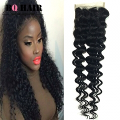 BQ HAIR Grade 8A 100% Unprocessed Virigin Hair Deep Wave Style 4*4 Lace Closure Human Hair (10