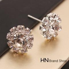 HN Brand-1 pair/Set New Beautiful Hot Sparkling Rhinestone zircon Stud Earrings Women Jewellery Crystal 1.2cm*1.2cm