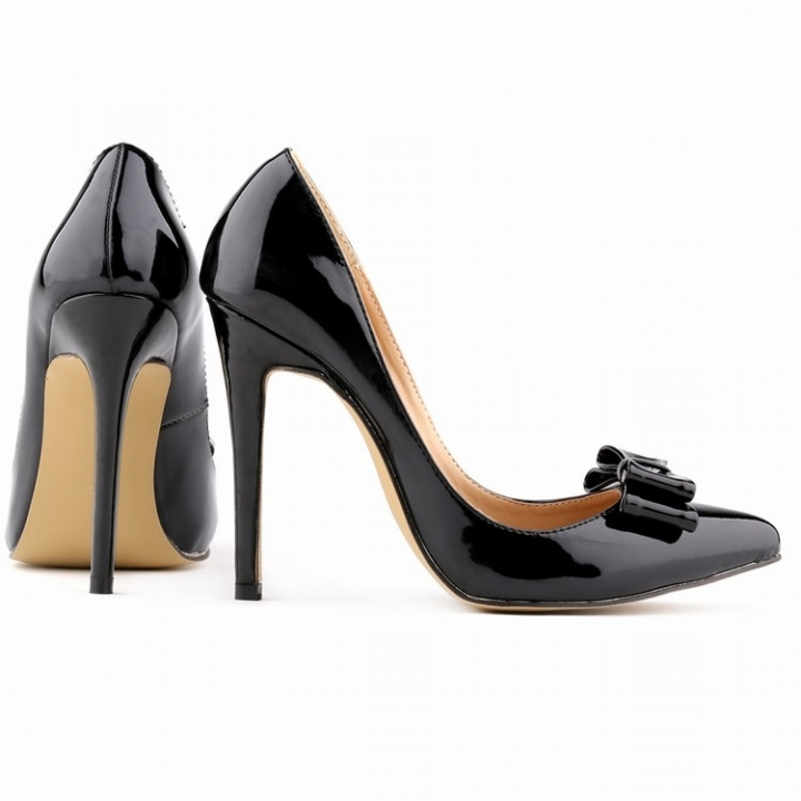 92c0ea7c39 LOSLANDIFEN Fashion Womens Sexy Pointed Toe Patent Leather High ...