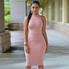 Sexy Club style sleeveless dress carnation l