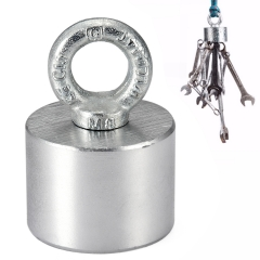 55*40mm Neodymium Recovery Magnet Metal Detector 200kg Treasure Hunting Fish Silver normal