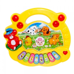 Baby Kids Musical Educational Animal Farm Piano Developmental Music Toy Gift Yellow normal