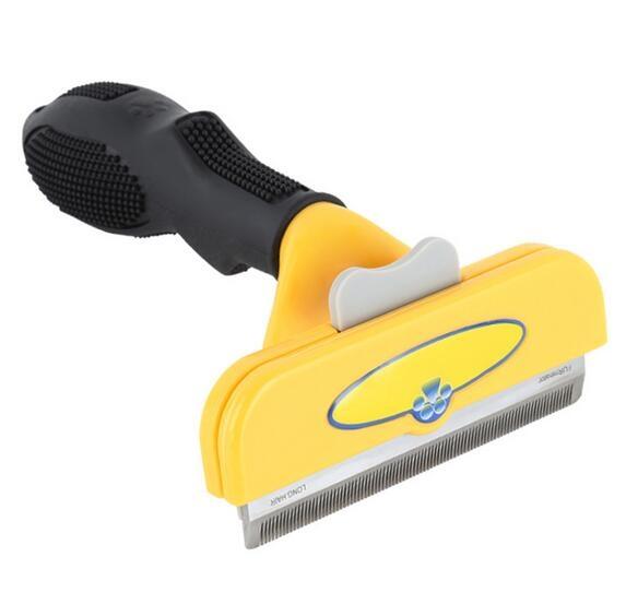 FURminator Long Hair deShedding Tool Large for Dogs Yellow normal