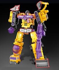6 in 1 Transformation ko Defensor Devastator Superion Bruticus Robot Figure Yellow normal