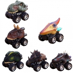 Pull Back Dinosaur Cars, Pawaca Dino Cars Toys with Big Tire Whee for Kids (6 Pack) Multicolor Normal
