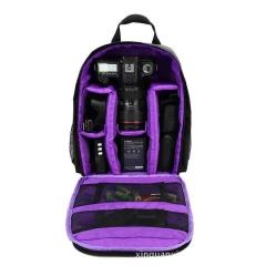 Camera Backpack Shoulder Bag Compact Photograph Waterproof Nikon Canon Sony purple normal