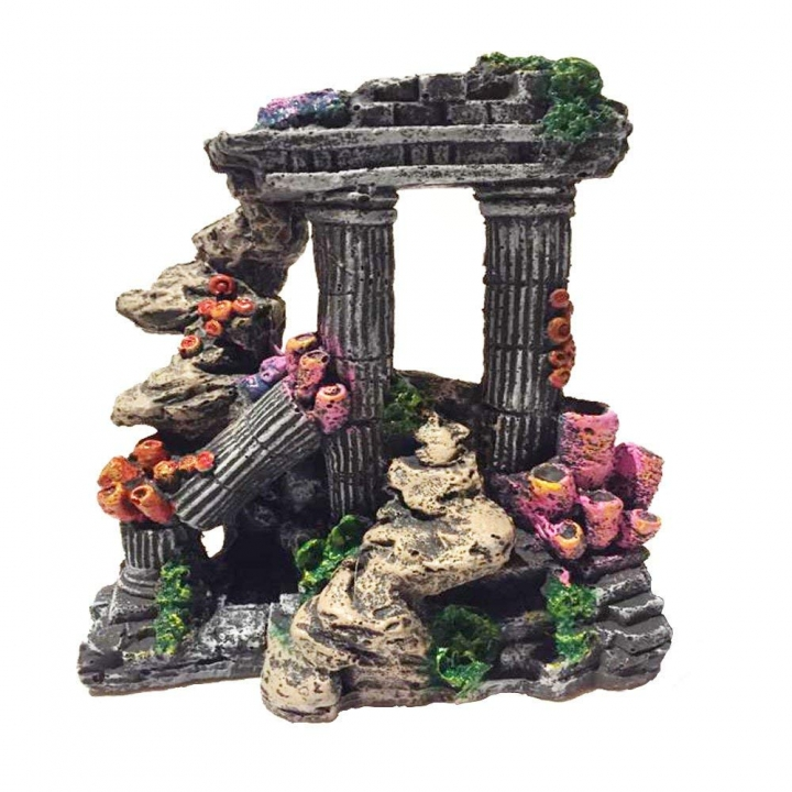 Resin Roman Column Aquarium Decorations Multicolor normal