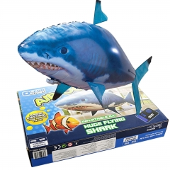 RC Flying Shark Fish Remote Control Radio Air Swimmer Inflatable Blimp Xmas Gift Shark normal