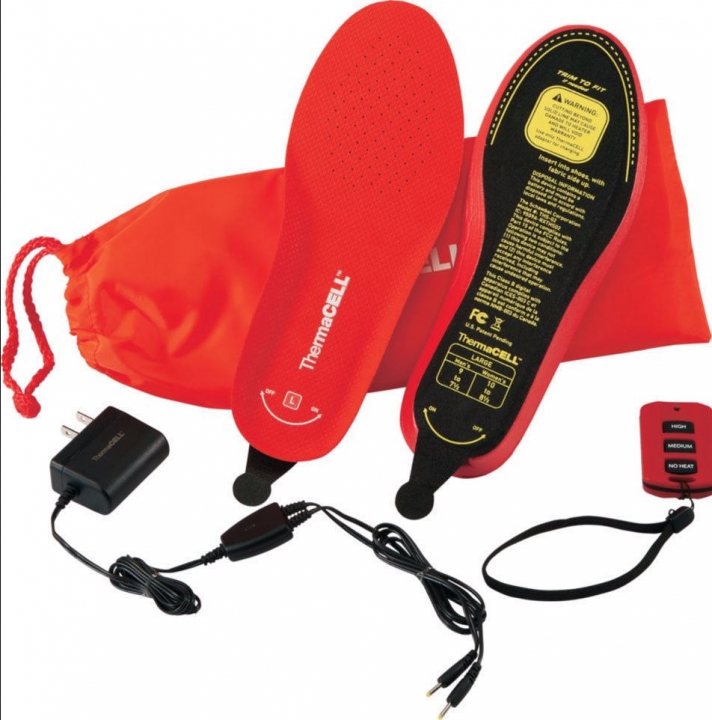 Heated Insoles Wireless & Rechargeable Remote-Controlled Red S