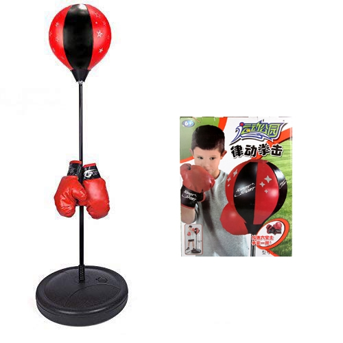 Boxing Set With Punching Ball + Hand Pump + Boxing Gloves Multicolor l