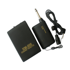 Wireless Headset Microphone System Mic FM Transmitter Receiver black