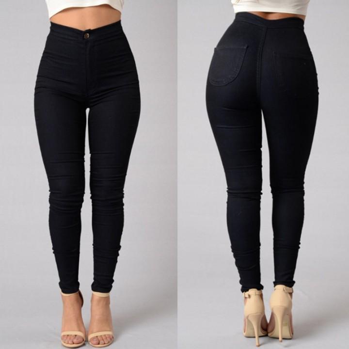 9632fcf7d85e2 Sexy Women Skinny Stretch Denim Slim High Waist Trousers Leggings Jeans  Pants black l