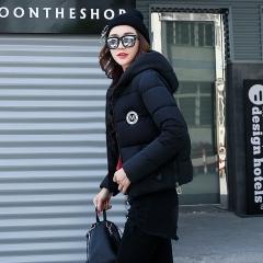 2017 jackets women autumn winter Fashion Casual Basic jacket Cotton coat Short outwear Black M