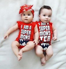 Baby Clothing boy bodysuit  Clothes Set Red 70cm