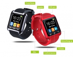 New  Fashion High Quality Multifunction Bluetooth Smart Watch U8 digital sport watches red U8