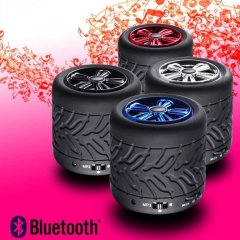 Wireless Bluetooth Speaker Tire Card Phone Handsfree Portable Mini Speaker (black) one size