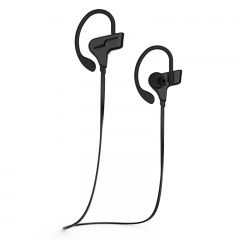 outdoor movement waterproof Bluetooth headset movement wireless Hanging ear test Ears stereo black