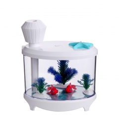 Fish tank lights humidifier Creative USB Charge humidifier  Mini Home humidifier white 14.5cm*12.5cm*8.6cm 2W
