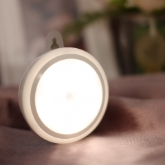 LED body Sensor light Ceiling corridor aisle Cabinet Light  Charge Light control Night light white 8CM*8CM 3W