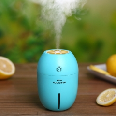 Lemon Humidifier Colorful Humidifier  Home Office Desktop Humidifier Night light blue 8cm*8cm*12cm 2w