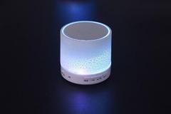 Glare crack Bluetooth Speaker Mini Portable Car led bass U disk Card music white one size