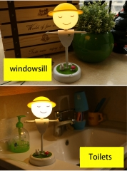 Creative LEd scarecrow Night light Rechargeable Touch Sensor lightBedroom Cartoon From the night White light 25cm*11cm*10cm 0.3w