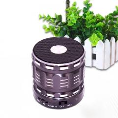 Bluetooth Speaker wireless Portable Card bass metal Small steel gun Mobile phone Mini sound black one size