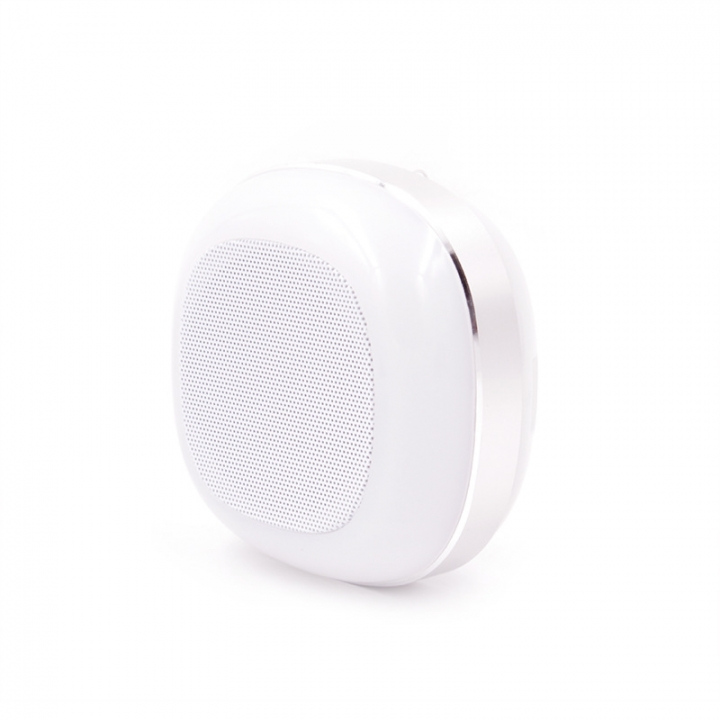 Glowing Bluetooth Speaker Portable Card led outdoor Night light Mobile phone wireless  Small sound silver one size