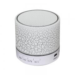 Bluetooth Speaker crack Bluetooth Sound Mp3 card Play  FM radio Mini Bluetooth Small steel gun white one size