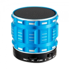 Wireless Bluetooth Speaker Outdoor Portable Mini bass Card Mobile phone Small Steel Gun Sound blue one size