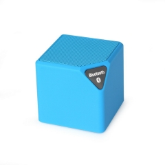 Wireless Bluetooth Speaker Outdoor Small Cube Sound Mini Portable Radio Card Cube Bass blue one size
