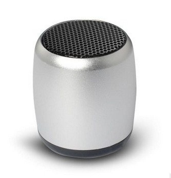 Wireless Bluetooth Speaker Bass Metal Mini Small Steel Gun Portable Outdoor Mini Sound white one size