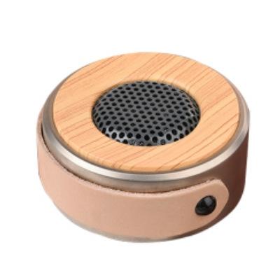 Wireless Bluetooth Speaker Outdoor Cortex Metal Mini Sound Portable Card Small Steel Gun gold one size