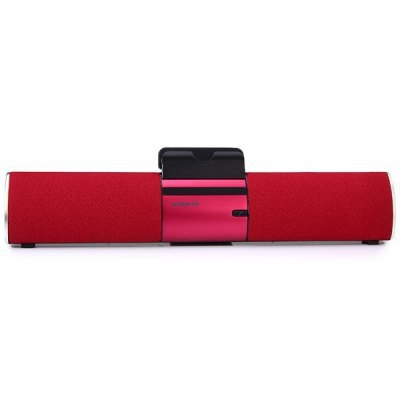 Handsfree Wireless Bluetooth Speaker Portable Mobile Phone Flat Stent Bluetooth Sound Bass red one size