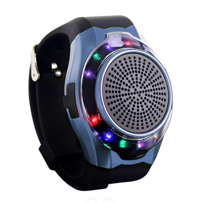 Watch Bluetooth Speaker Outdoor Movement Handsfree Colorful LED Flashing lights Small Sound blue one size