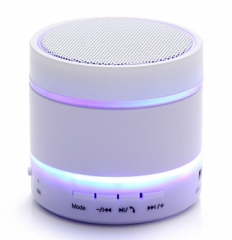 Wireless LED Bluetooth Speaker Mobile Phone Mini Portable Bass Card Radio Outdoor Sound white one size