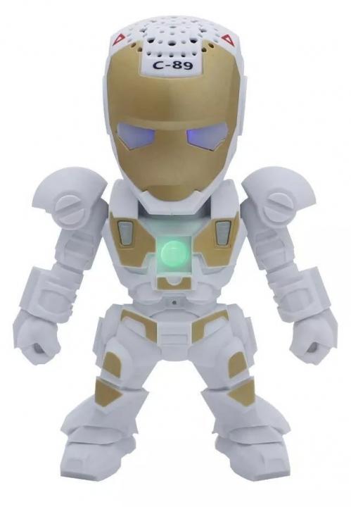 iron Man Bluetooth Speaker robot wireless Portable Mobile phone Sound Card Mini bass white one size
