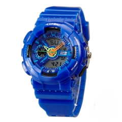 Colorful luminous watch Double show Movement Men movement digital watch 30m depth Waterproof table a