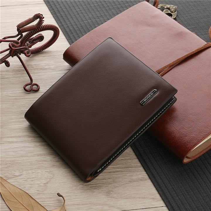 The New Trend Men Short Section Wallet Wallet Leisure Business Card Pack Student Wallet coffee 1 one size