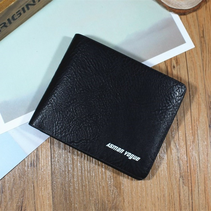 Men Short Section Tide Men Personality Wallet Cross Section Ultra Thin Small Wallet Student Wallet black one size