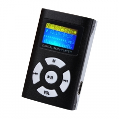 USB MP3 Player Mini LCD Screen Support 32GB Micro SD TF Card black