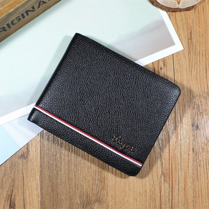 Men Cross Section Wallet Youth Business Change Wallet Ultra Thin Multi-card Bit High Quality Wallet black one size