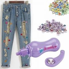 DIY  Mini Bedazzler Crystal Rhinestones Rivet Tool Garment Rivets Accessories purple one size