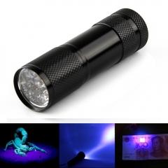 Portable LED Flashlight Penlight LEDs UV Purple Lights Lamp Torch Lighting For Money Checking black 9*3(mm) 9w