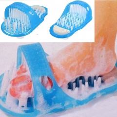 Shower Foot Feet Cleaner Scrubber Washer Easy Bath Brush Pumice Stone Massager blue one size