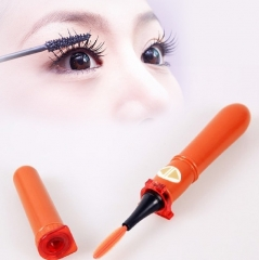 Eyelashes Curler Makeup Spinlash Rotating Eyelash Brush Eyelash Curler Roller Styling Tools orange