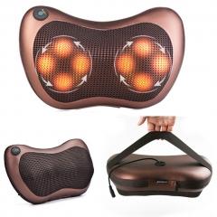 Car Home Massager Electric Lumbar Neck Back Leg Foot Waist Stomach Massage Pillow brown