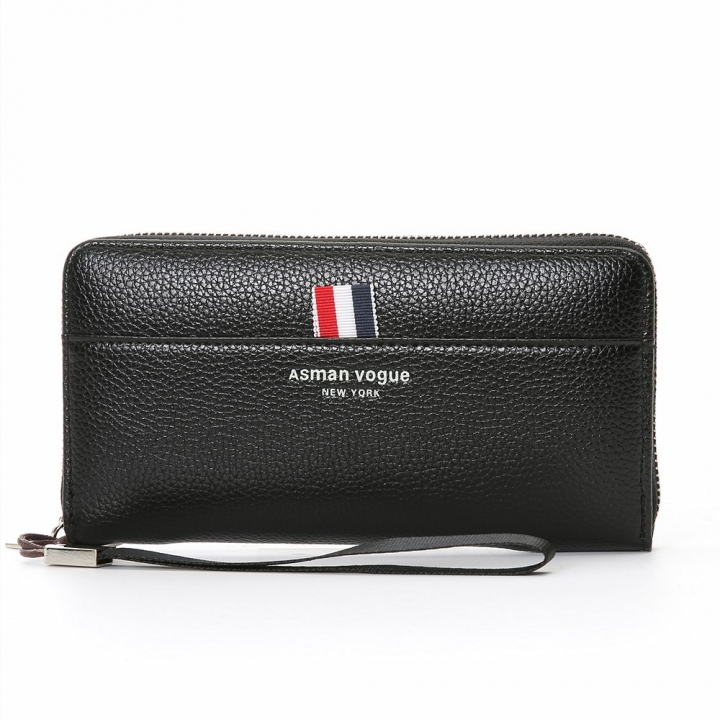 The New Men Wallet Long Section Multifunction Zipper Hand Bag Multi-card Bit High Capacity Wallet black one size